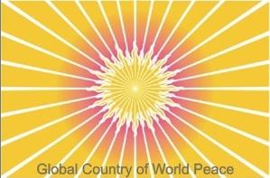 Le drapeau du Pays Mondial de la Paix sur Terre